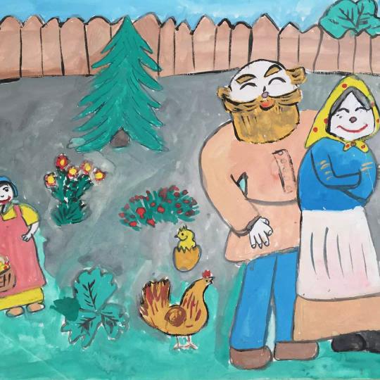 Выставка детских рисунков «Славим возраст золотой»